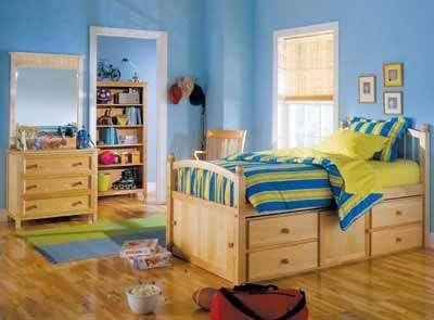 Aqui temos um exemplo de quarto infantil planejado com móveis
